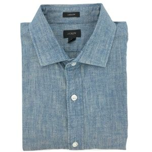 J. CREW Ludlow Mens M Shirt Chambray Blue